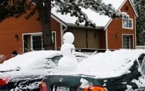 Mobile snowman.