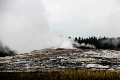 Old Faithful - The most punctual geyser in Yellowstone, possibly the biggest as well.